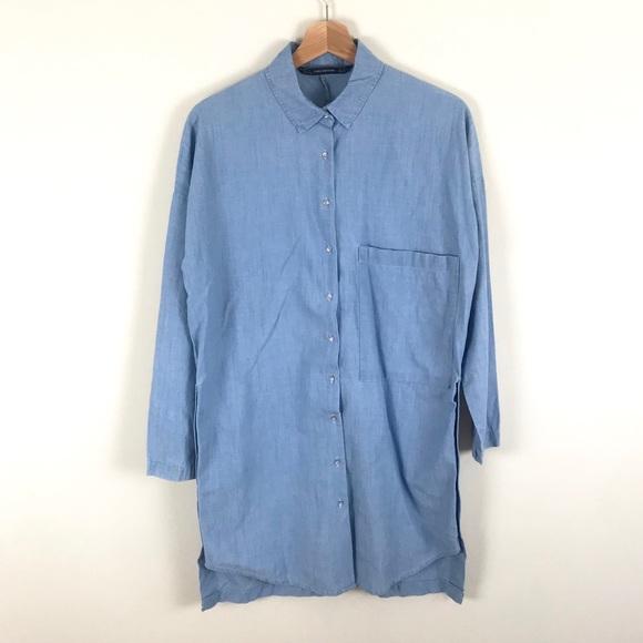"Zara Denim ""Raw Market"" T-Shirt Dress - XS"